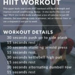 20 Minute Upper Body HIIT Workout