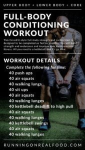CrossFit-Style Full-Body Conditioning Workout