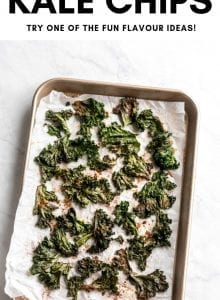 Pinterest graphic for how to make kale chips.