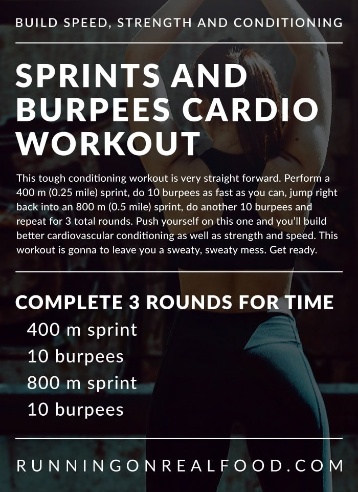 Sprints and Burpee Cardio Workout | build strength and speed