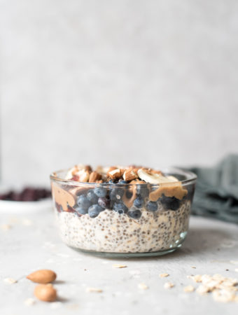 Vegan Blueberry Chia Overnight Oats Recipe - Running on Real Food
