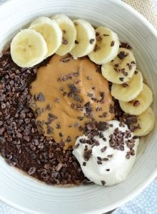 Vegan Peanut Butter Banana Chocolate Chia Pudding