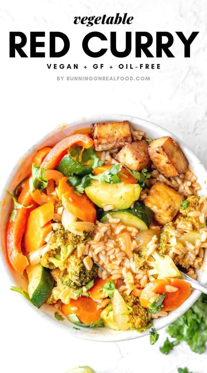Pinterest graphic for Vegetable Thai Red Curry