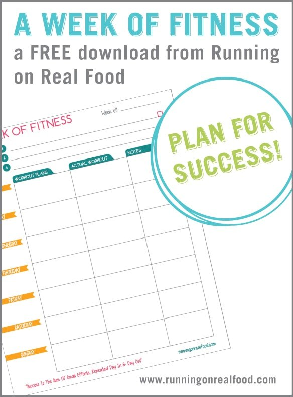 Free Printable Workout Planner with Fitness Goal Planner