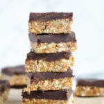 Cashew Cookie Dough Bars with Chocolate Ganache