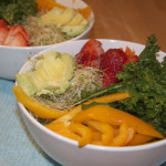 Massage Kale Salad with Avocado Dressing