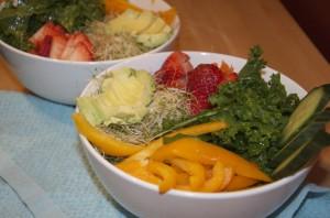 Massaged Kale Salad with Avocado Dressing