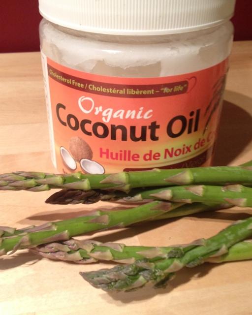 Coconut Oil Sautéed Asparagas