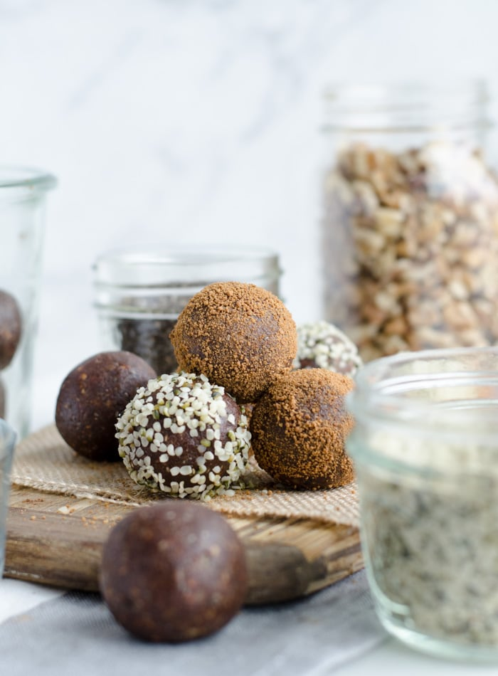 Chocolate Energy Ball Recipe with Walnuts - Running on Real Food