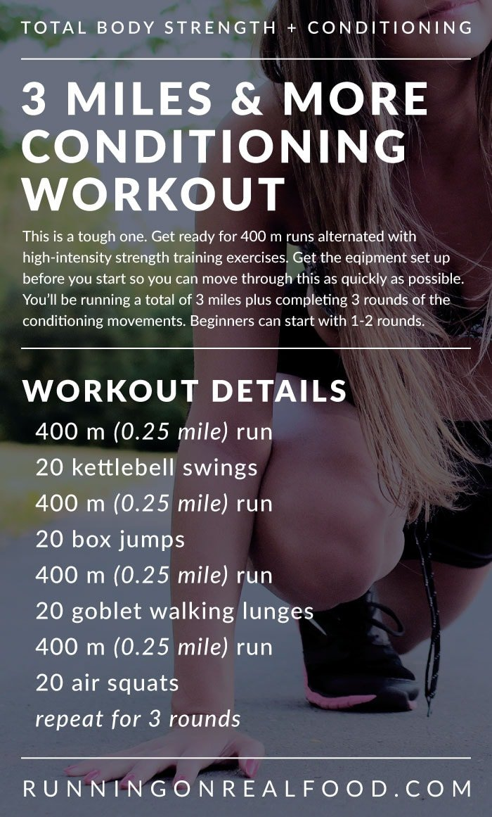 Cardio and Strength Circuit Training Workout for Total Body Conditioning