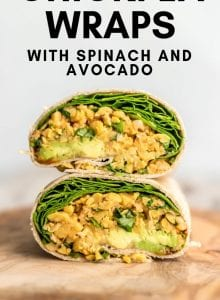 Spicy Chickpea Wraps with Spinach and Avocado