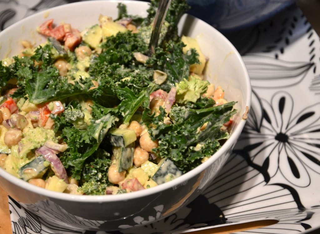 Chickpea, Almond and Broccoli Salad