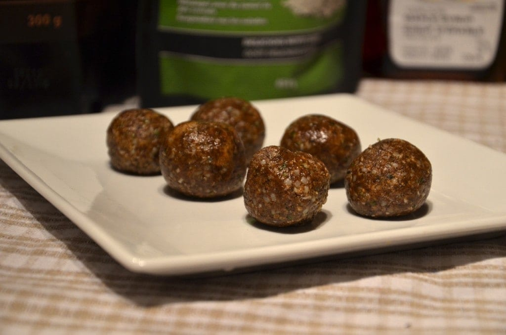 Peanut Butter Hemp Protein Bites with Coconut | no blending needed!
