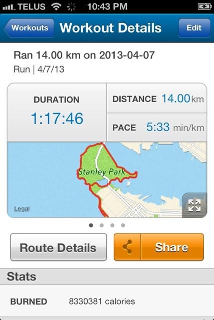 14km Run