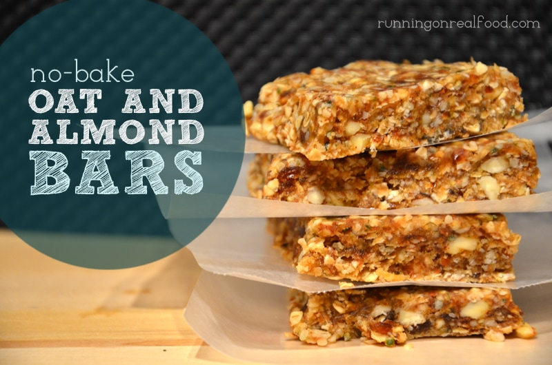 No-Bake Oat and Almond Bars (Vegan, Gluten-Free)