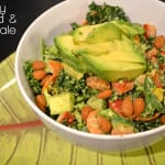 Creamy Almond and Basil Kale with Avocado