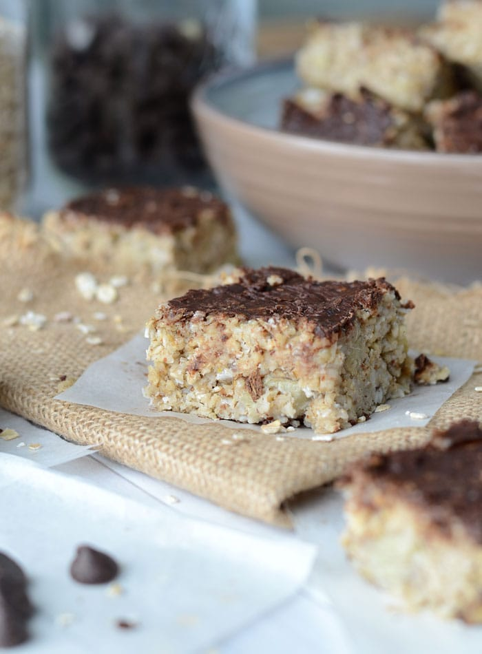 Vegan Baked Banana Oatmeal Bars