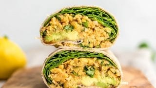 Lunch: Spicy Chickpea Wraps with Spinach and Avocado