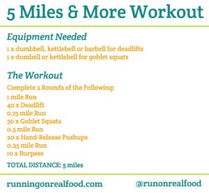 5 Miles And More Workout: Training for Tough Mudder