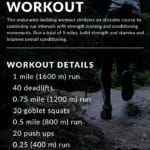 Tough Mudder Obstacle Course Training Workout