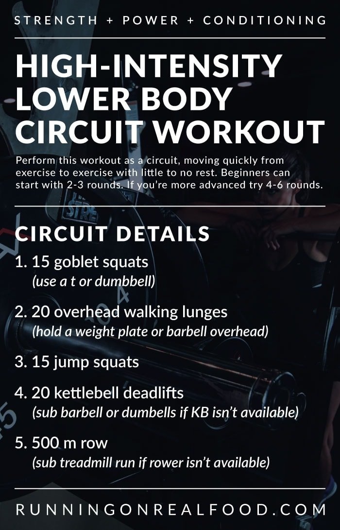 High-Intensity Lower Body Circuit Workout