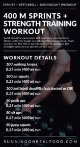 treadmill sprints and strength training workout for total