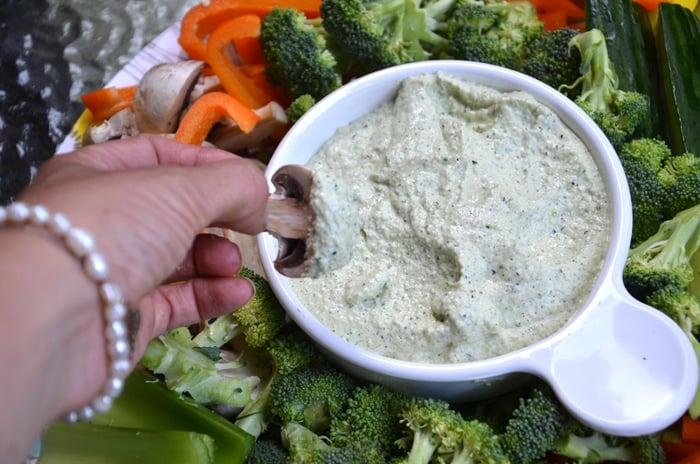 Raw Zucchini Hemp Seed Hummus