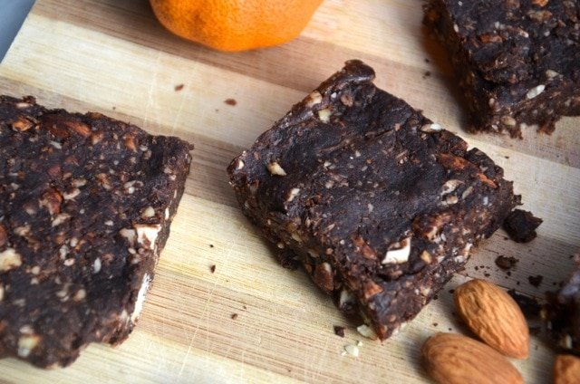 Vegan No-Bake Chocolate Orange Brownies