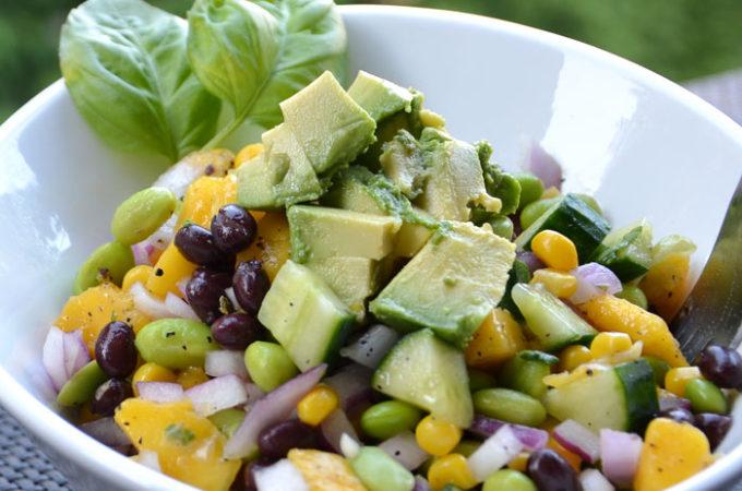 High-Protein Edamame Mango Salad