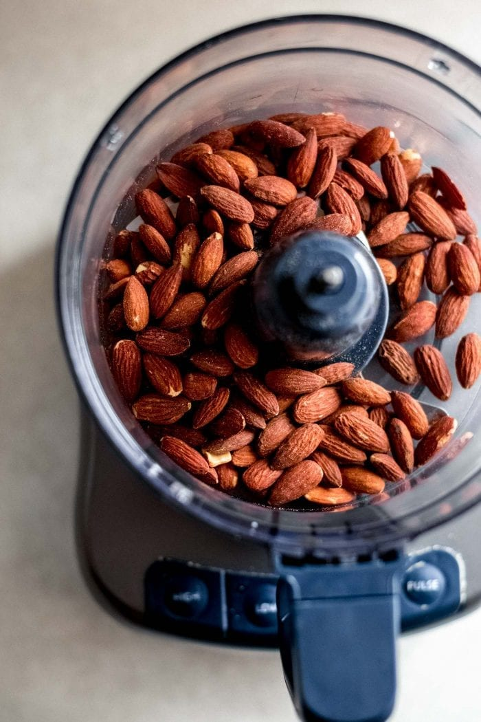 Raw Almonds for No-Bake Brownies - Running on Real Food
