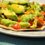 Vegan Tostadas with Tomatilla Sauce