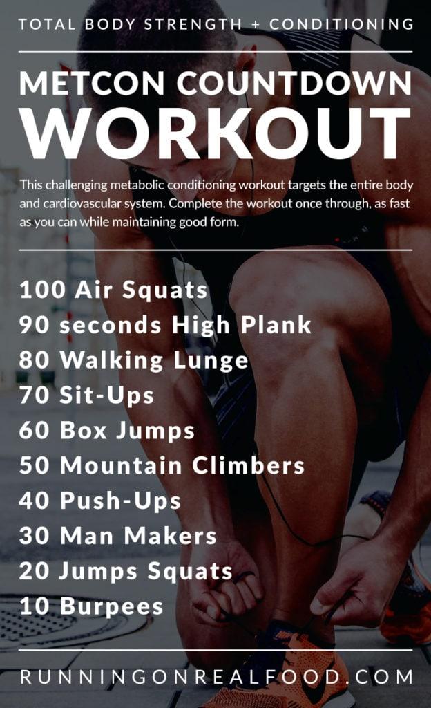Metabolic Countdown Workout