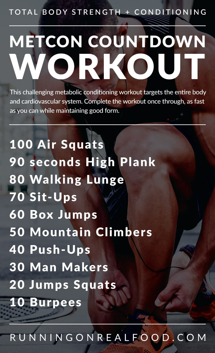 Metabolic Countdown Workout
