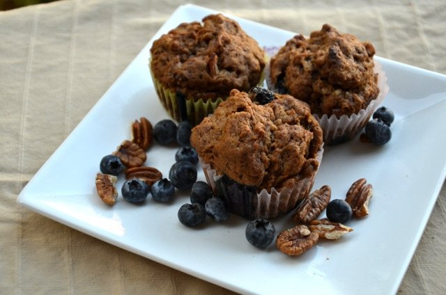 Vegan Blueberry Pecan Muffins for a Warming Breakfast or Snack