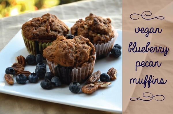 Vegan Blueberry Pecan Muffins