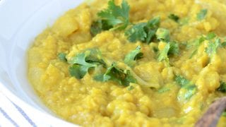 Dinner: Coconut Red Lentil Dahl