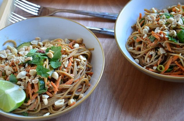Cold Noodle Salad with Spicy Peanut Sauce