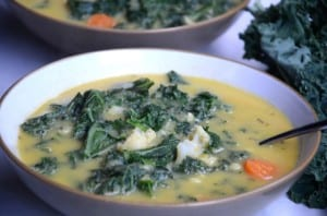 Kale and Cauliflower Chowder – Vegan & Gluten-Free