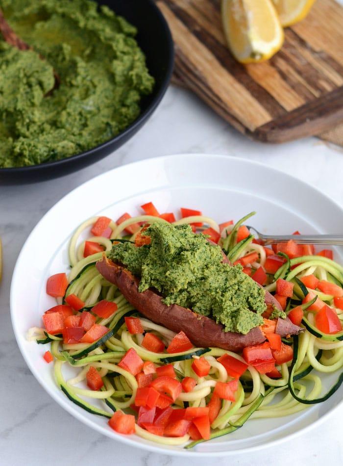 Healthy Vegan Kale Hummus