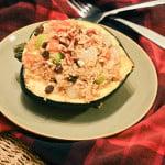 Pecan, Raisin and Quinoa Stuffed Acorn Squash