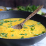 Curried Cauliflower Sweet Potato Soup - Vegan, Healthy, Oil-Free