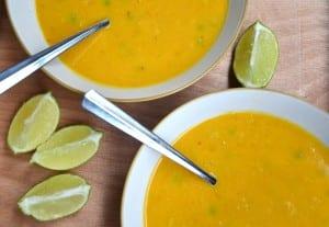Curried Cauliflower Sweet Potato Soup