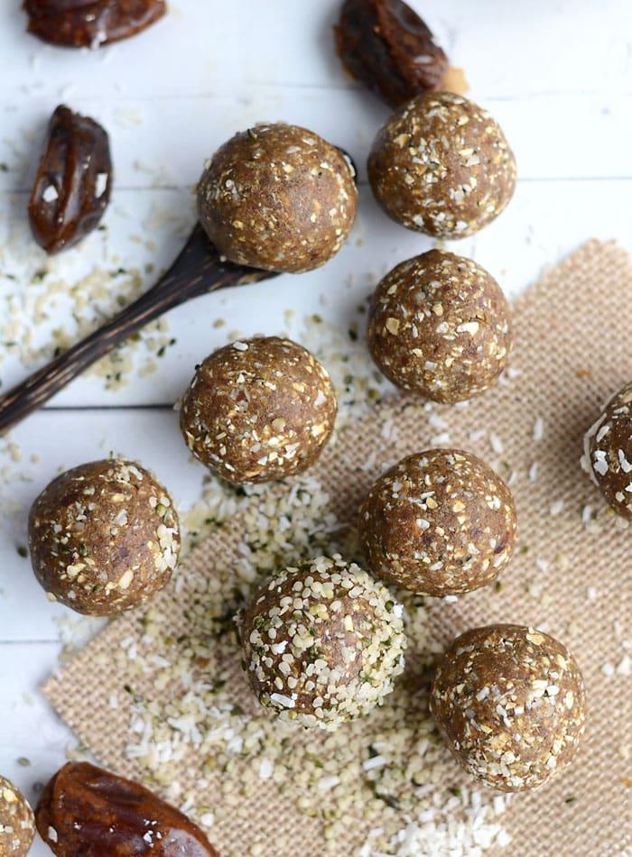 Nut-Free Coconut Protein BItes - Vegan, Gluten-Fre