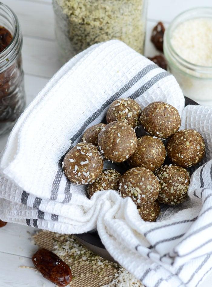 Coconut Protein Bites No Bake Vegan Nut Free Ready In