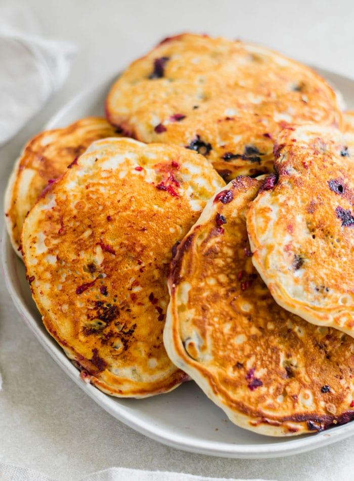 Best Vegan Berry Banana Pancake Recipe - Running on Real Food