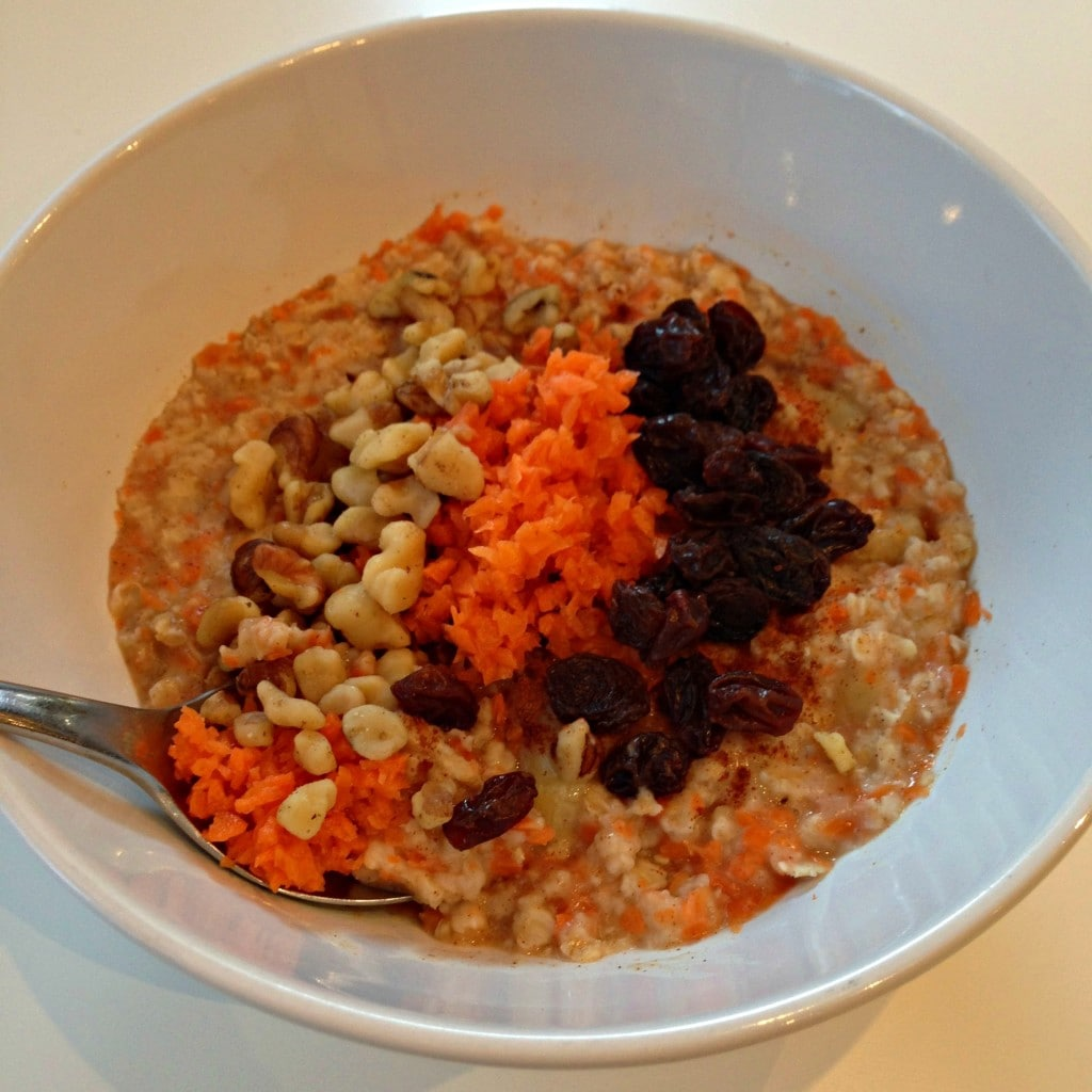 Carrot Cake Oatmeal What I Ate Wednesday
