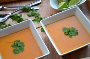 Thai-Style Roasted Butternut Squash & Carrot Soup
