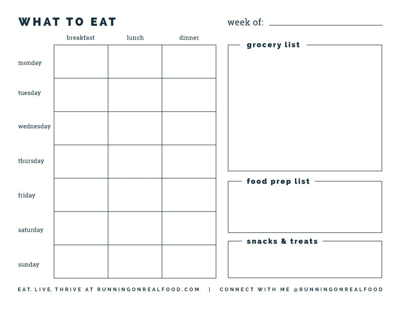 Free Printable Weekly Meal Planner  Download It Now
