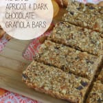 No-Bake Apricot and Dark Chocolate Granola Bars: Vegan and easy to make with simple ingredients. Can be gluten-free!