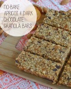 No-Bake Apricot & Dark Chocolate Granola Bars